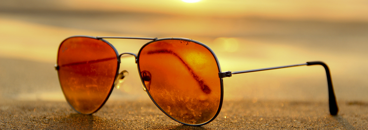 Sunglasses beach