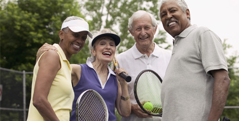 Active seniors tennis